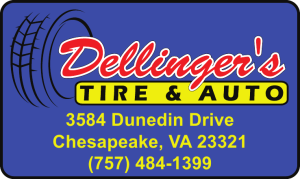 dellingers tire and auto logo
